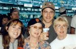 Heather, Mom, Steve and I at the 49's Game