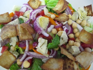 final salad without dressing